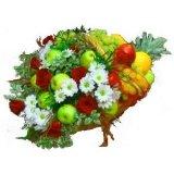 Kosz kwiatowo-owocowy