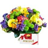 Kolorowy bukiet kwiatów